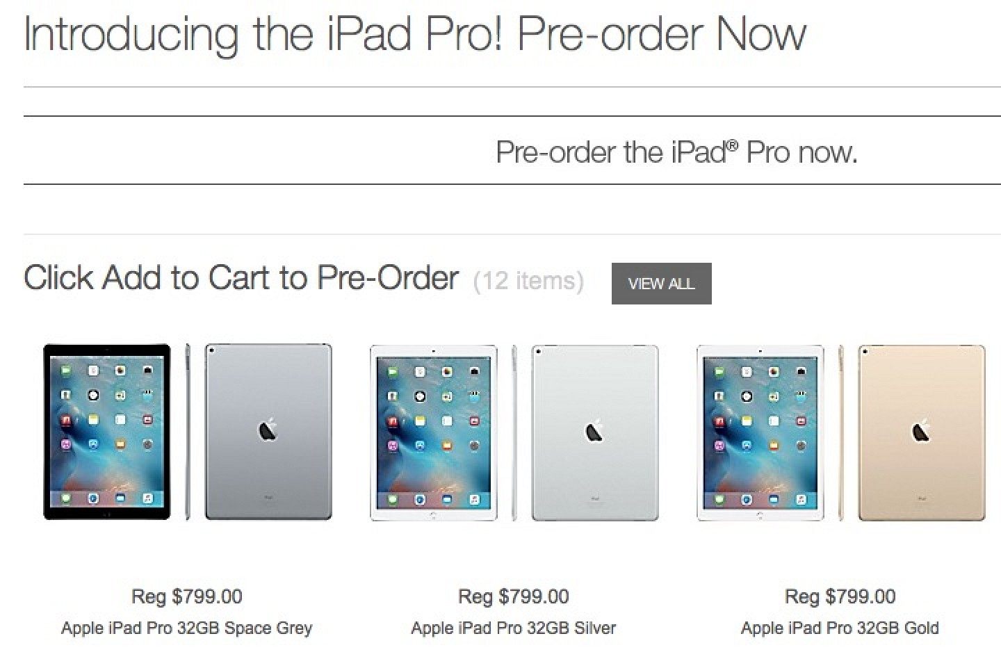Staples Debuts Ipad Pro Pre Orders With November 25 Launch Date 129 32gb Grey Wifi Only Macrumors