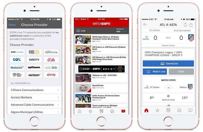 ESPN Brings WatchESPN Live Video Coverage Into Main iOS App