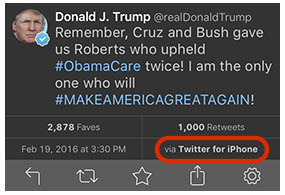 Donald Trump Calls for Apple Boycott While Tweeting With an iPhone ...