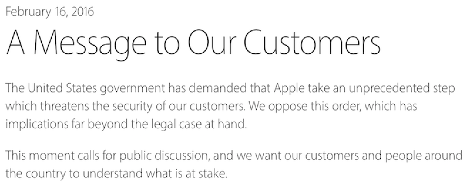 Tim Cook Apple WonT Create Backdoor To Help Fbi Access San
