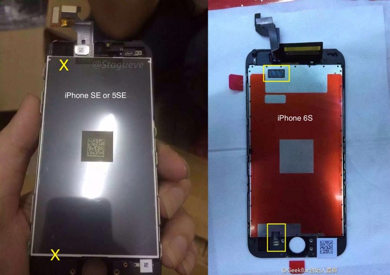 iphone se vs 6s ekran