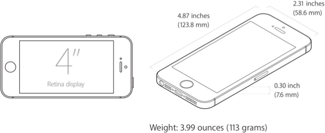 iphone 5s measurements iphone se everything we macrumors 8524
