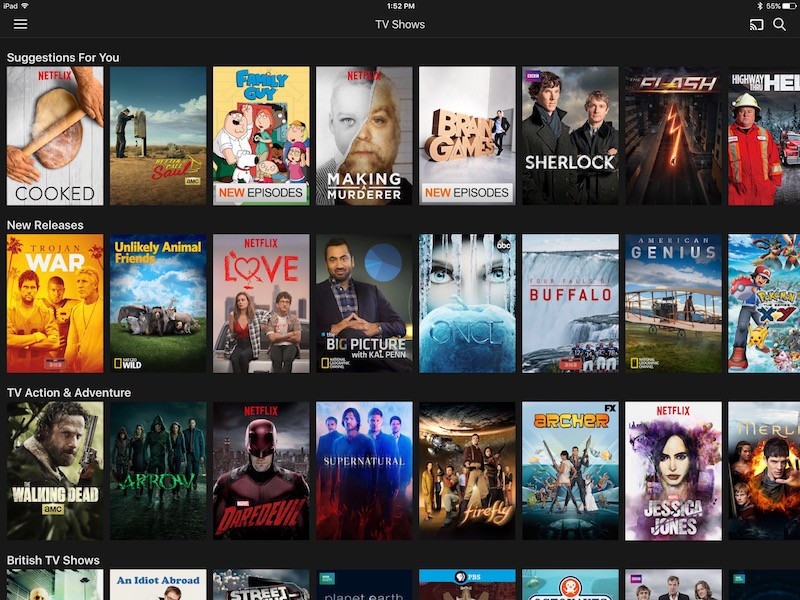 how to download tv shows from netflix to ipad