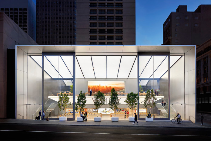 The Apple Store faces Union Square. Parking: Union Square Garage, accessed from Post or Geary. Public Transit: Bart to Powell St. ; use Stockton exit. Light Rail F line to Market & 4th. Powell St cable cars to Post St. Multiple SF MTA bus lines stop in the area. View Store Hours.