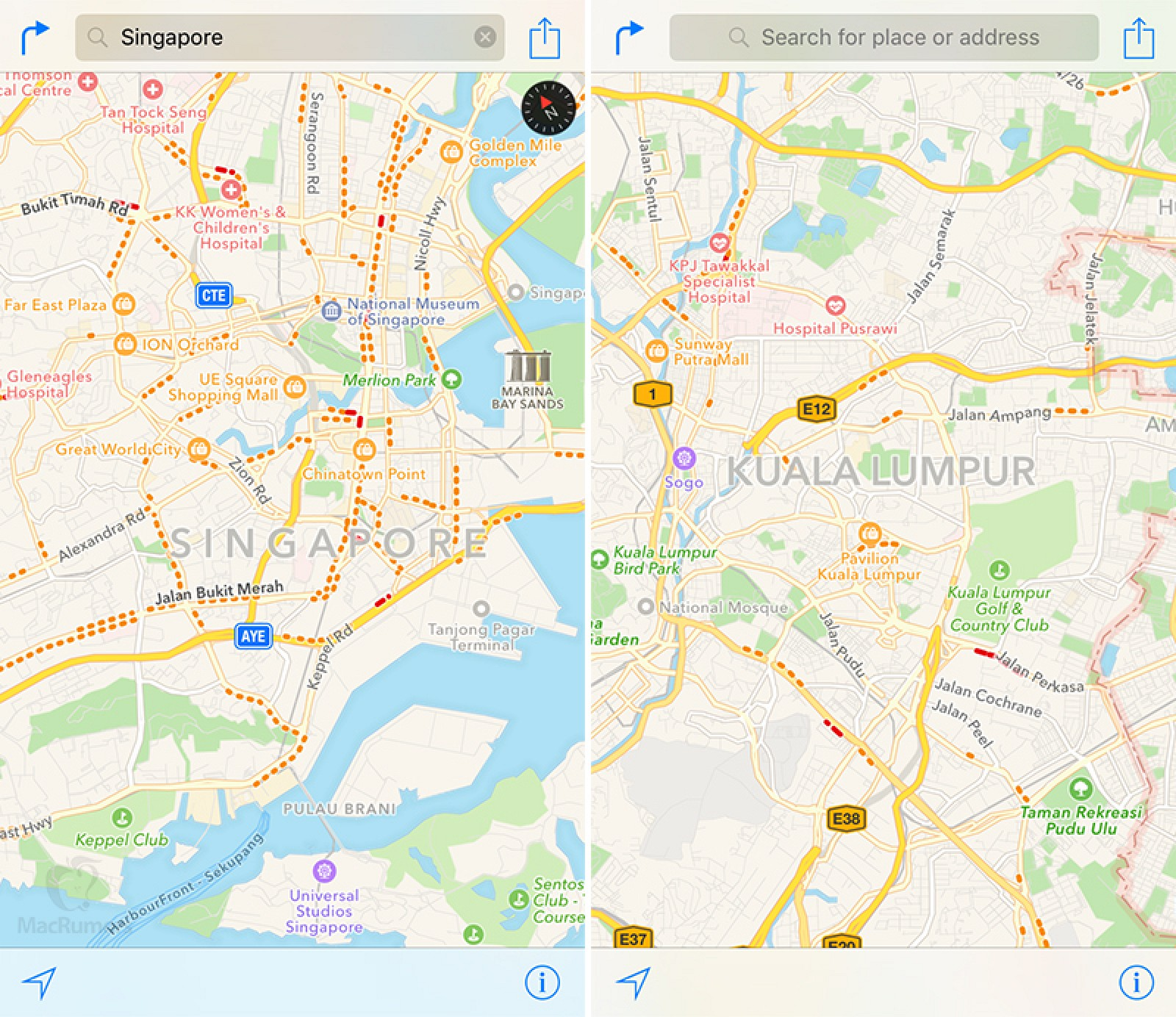 Apple Maps Traffic Data Expands To Singapore And Malaysia