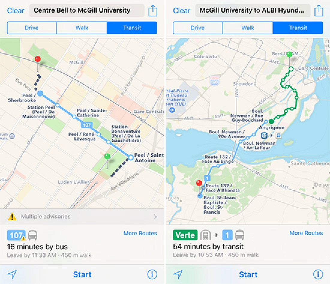 Black Friday Car Deals >> Apple Maps Expands Transit Data to Montreal - MacRumors
