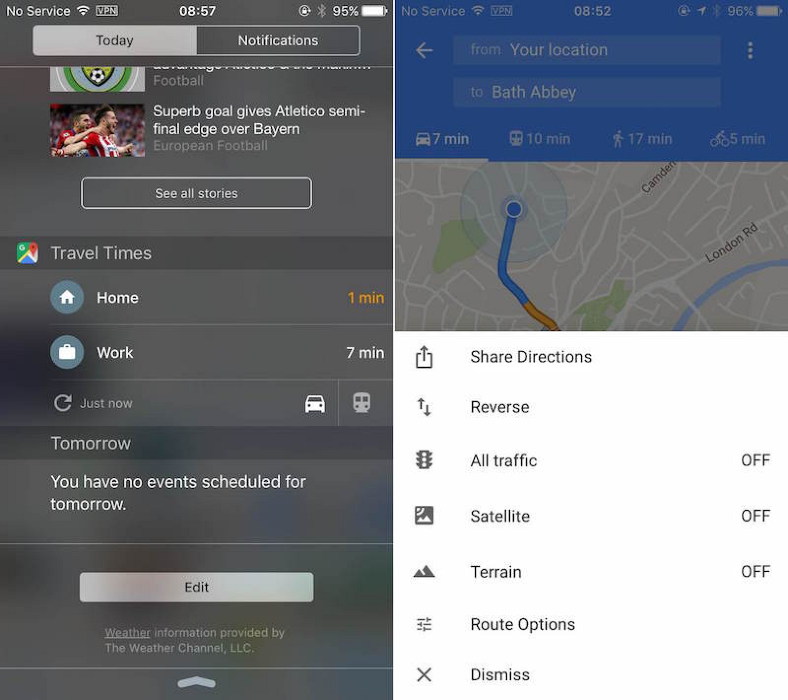 Google maps app gains travel times widget and direction sharing google maps app gains travel times widget and direction sharing mac rumors ccuart Images
