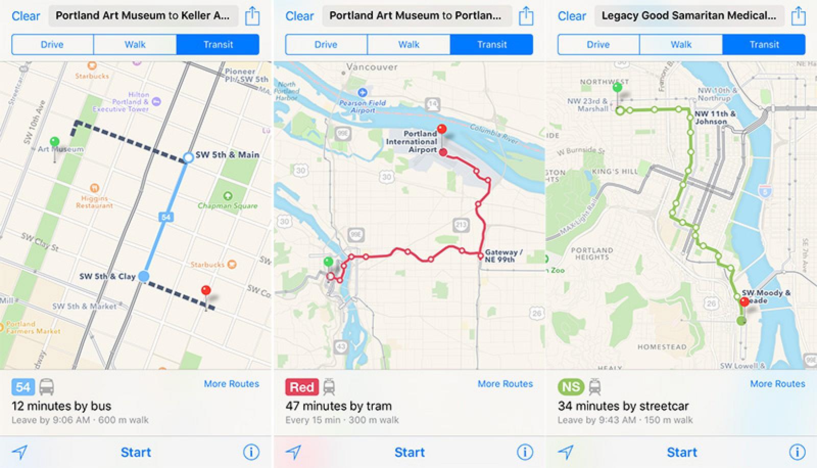 Apple Maps Expands Transit Data to Portland, Oregon - MacRumors