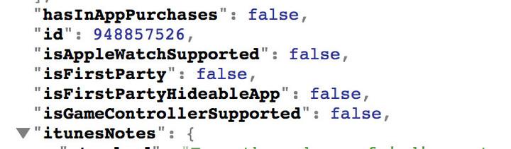 Stock Apps metadata