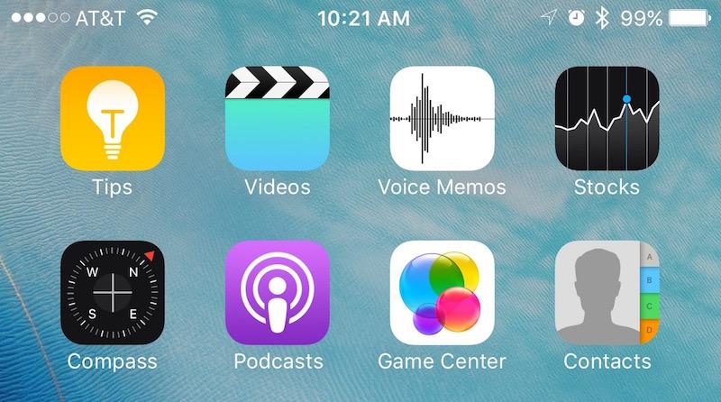 Stock iOS Apps