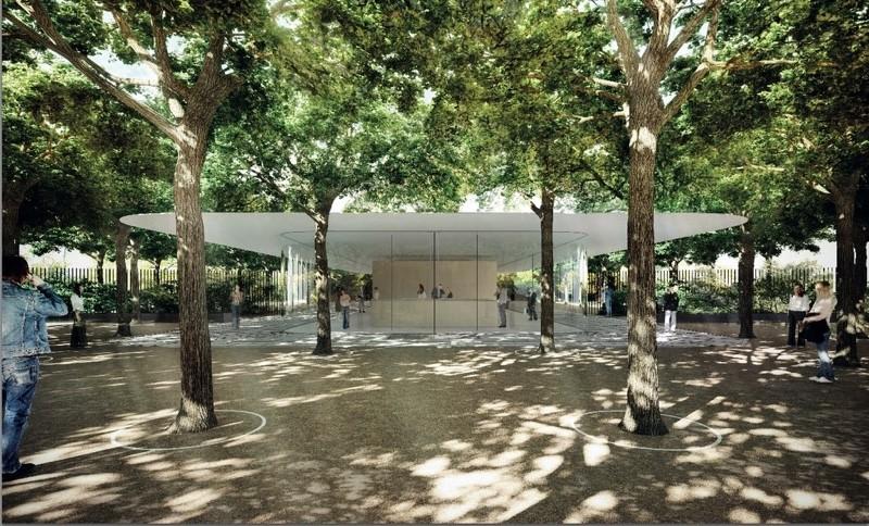 Apple Campus 2 Renderings Depict Reception Buildings, Food