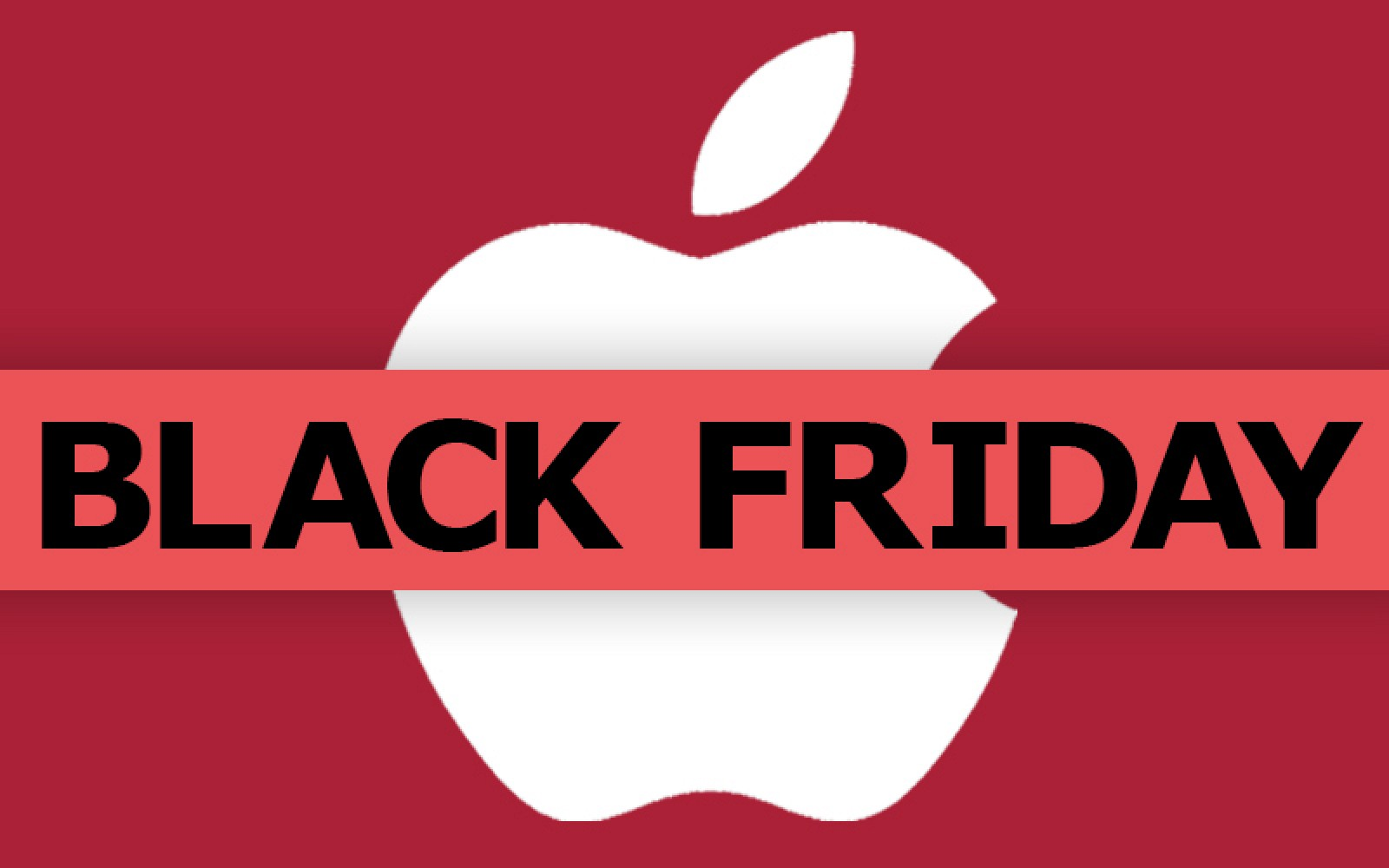 An apple icon behind a Black Friday statement.