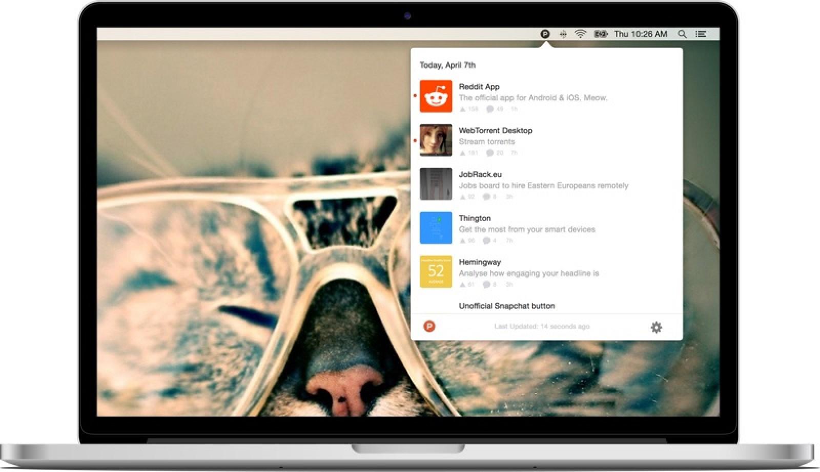 Product Hunt Launches Menu Bar Mac App - MacRumors