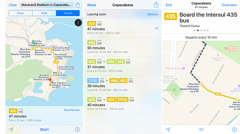 Apple Maps Gains Transit in Rio de Janeiro Ahead of Summer Olympics