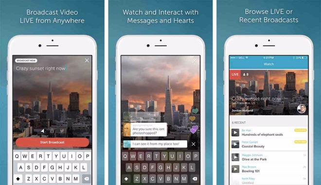 video periscope iphone