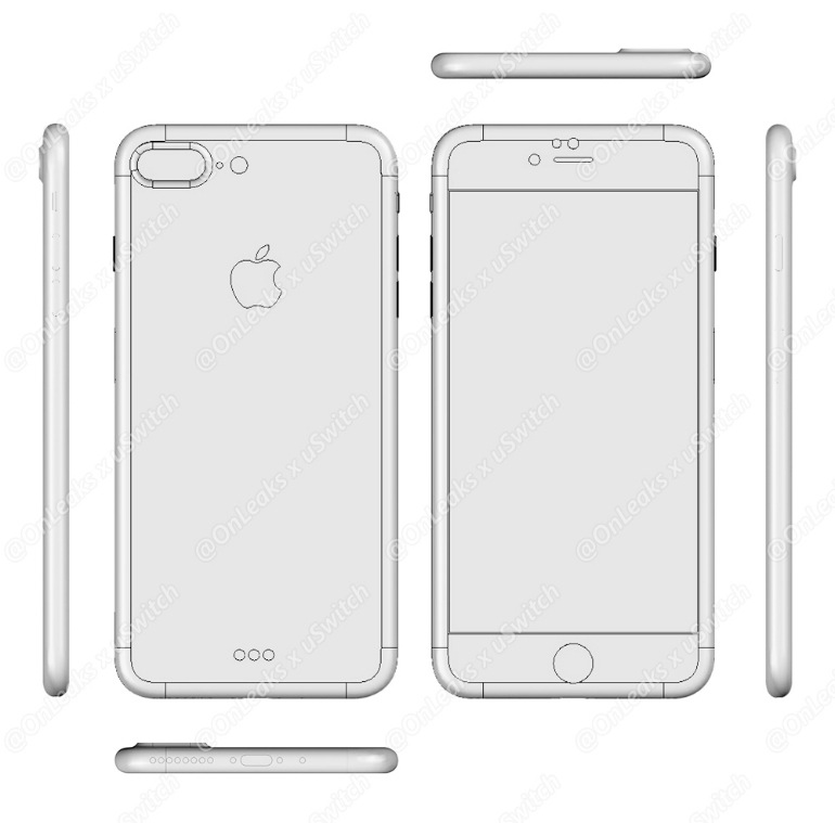 New iPhone 7 and 7 Plus Drawings: Dual Camera and Smart ...