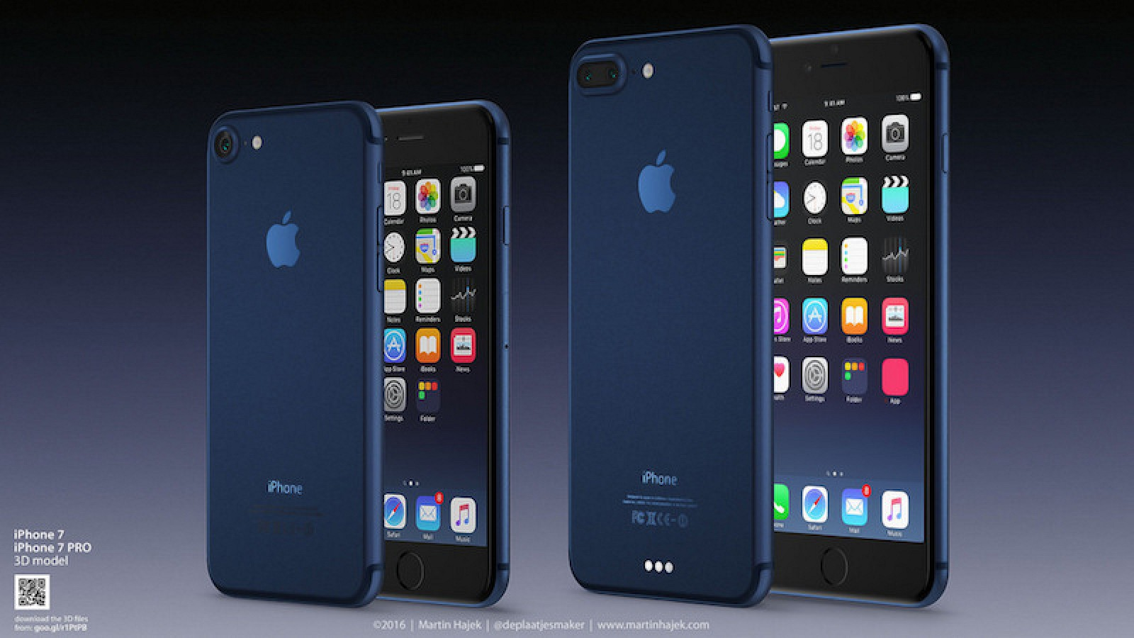 Concept Imagines What A Deep Blue Or Dark IPhone 7 Could Look Like