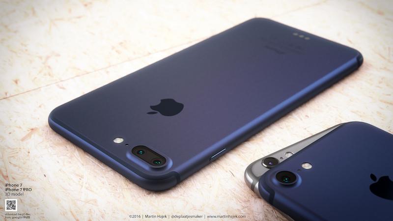 iPhone 7 Plus concept deep blue