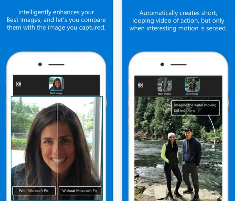 Microsoft Pix' for iOS Introduces Smart AI to Automatically