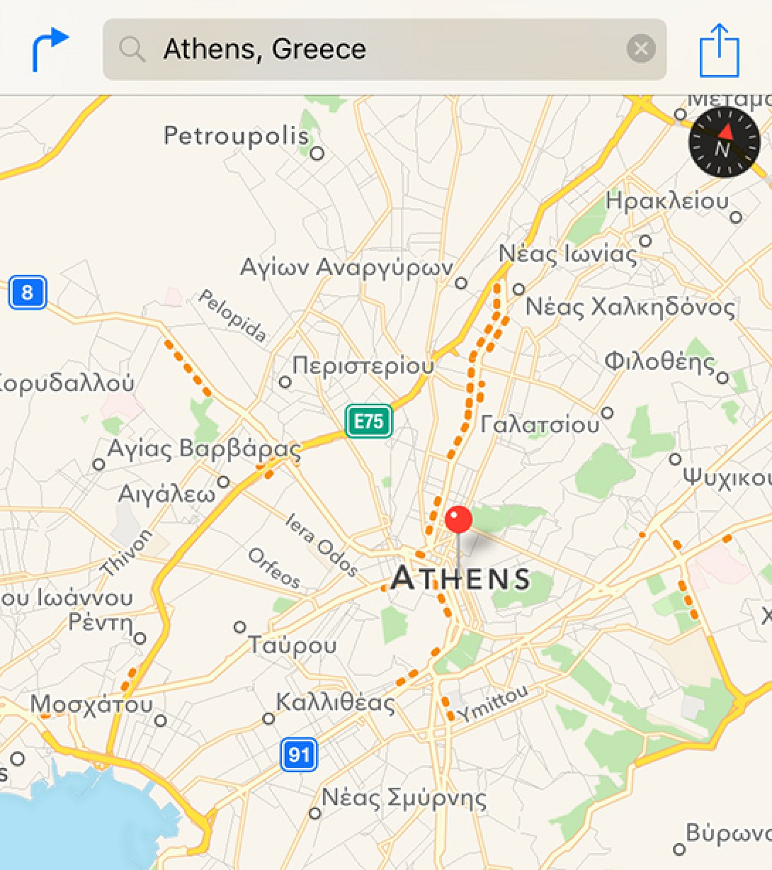 . apple maps now provides traffic data in greece  mac rumors