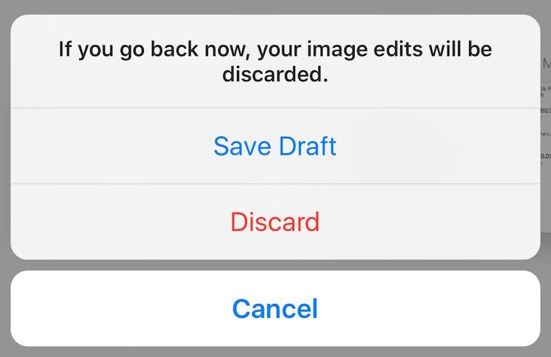 Instagram Save Draft