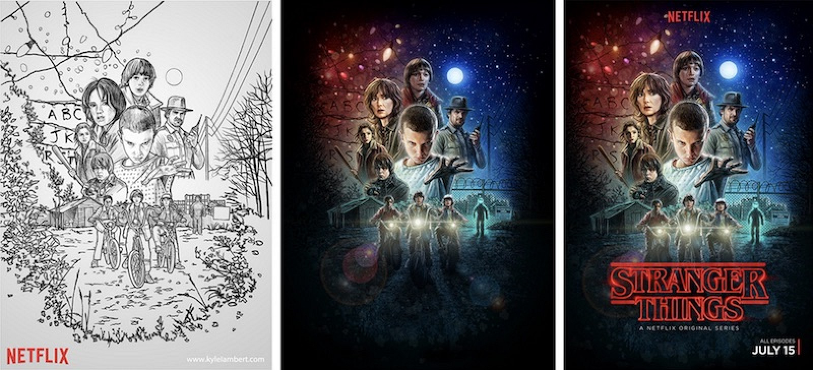 Best Way To Design Poster On Mac: Stranger Things7 Poster Began as Sketch Created With iPad Pro and rh:macrumors.com,Design