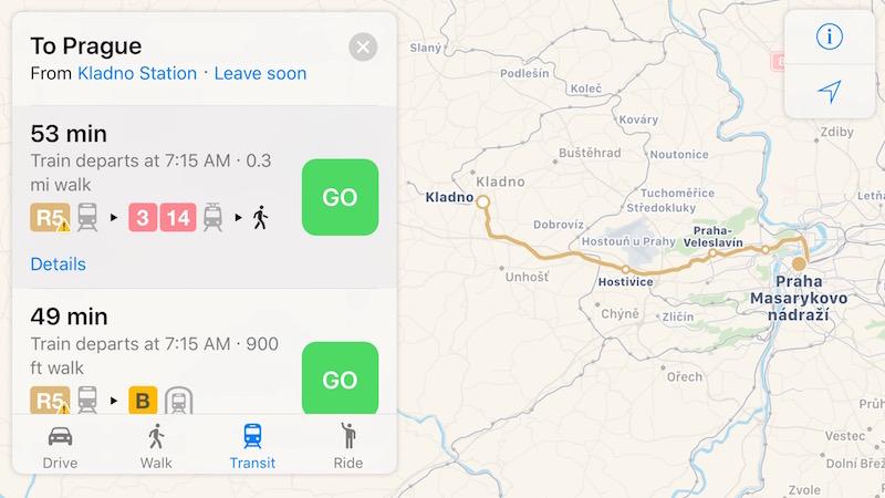 Apple Maps Transit Directions Expand to Prague, Czech Republic - Mac ...