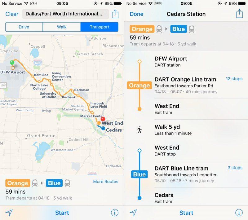 Apple Maps Expands Transit Data to San Antonio and DallasFort Worth