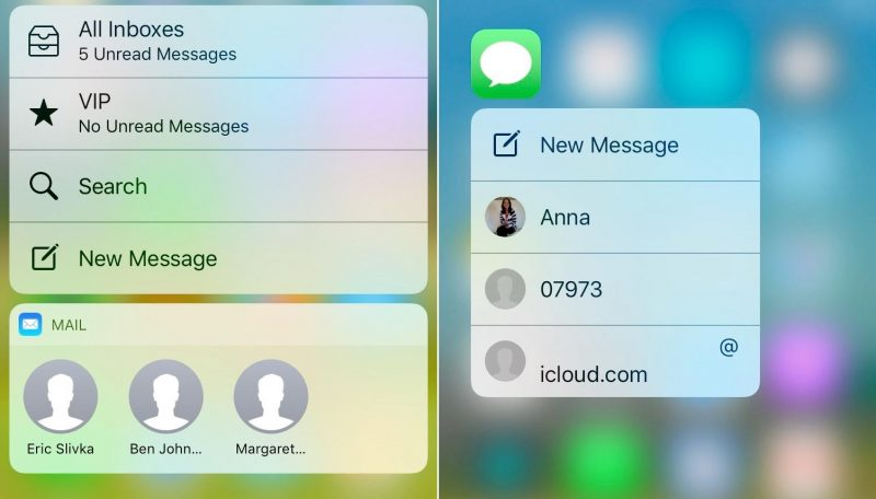 mail-messages 3D Touch