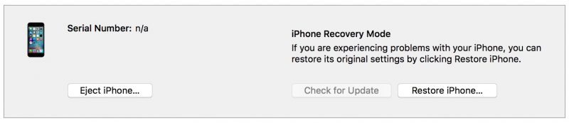 iTunes recovery mode