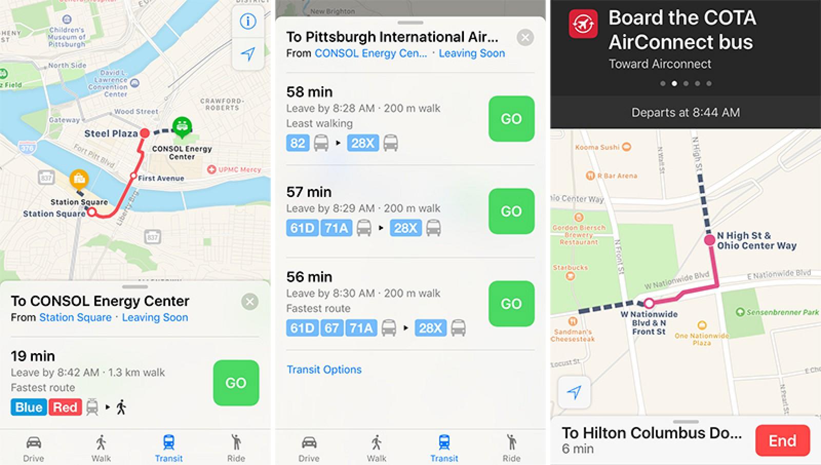 Apple Maps Expands Transit Data to Columbus and Pittsburgh - Mac Rumors