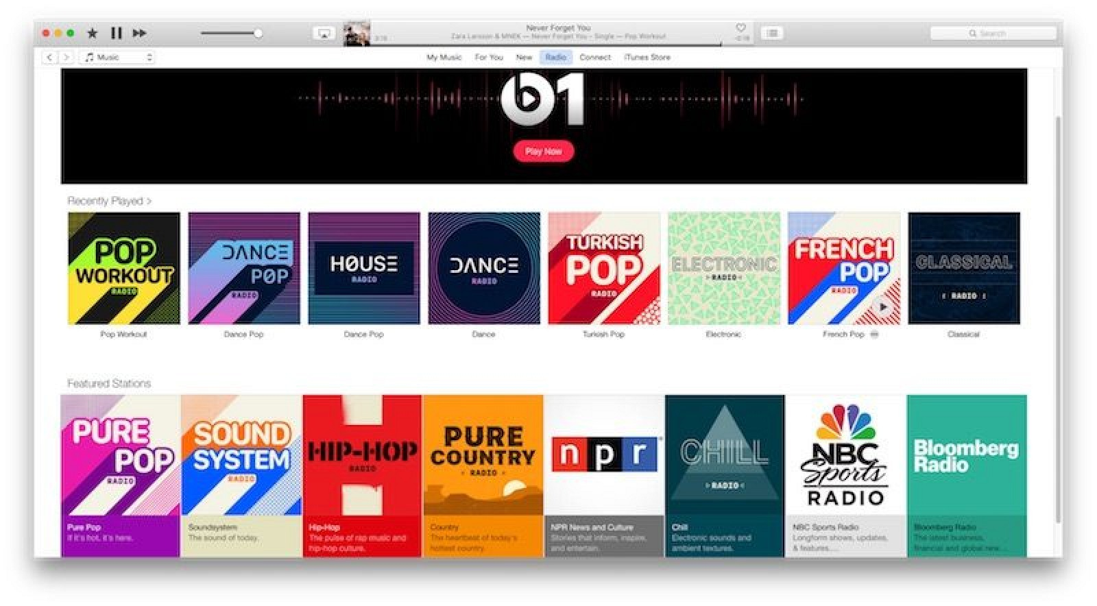 how to search a radio station on apple music