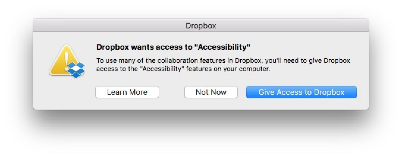 Macos Sierra Addresses Dropbox Security Concerns By Explicitly