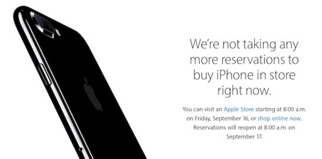 apple will resume reserve and pick up for iphone 7 in u s and