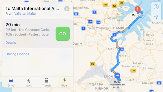 Apple Maps Now Provides Traffic Data In Four More European - Malta maps with countries