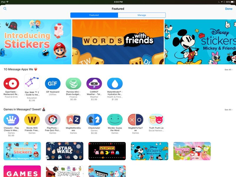 61229ad244 Messages App Store Launches Ahead of Tomorrow's iOS 10 Release ...