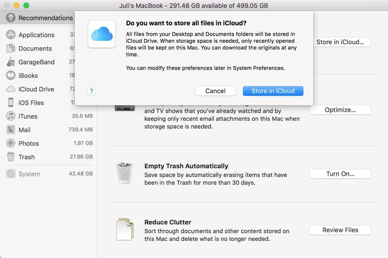 storeallfilesinicloud