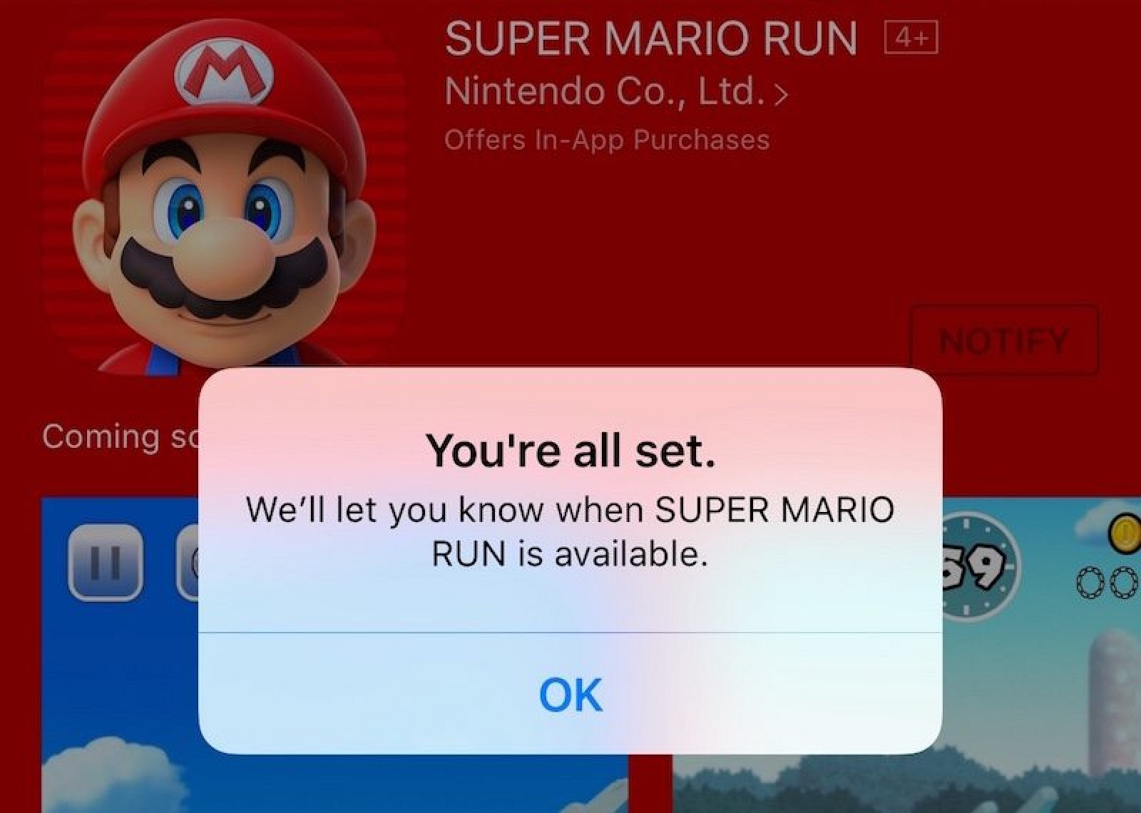 Apple's 'Notify' Feature for the Release of Super Mario ...