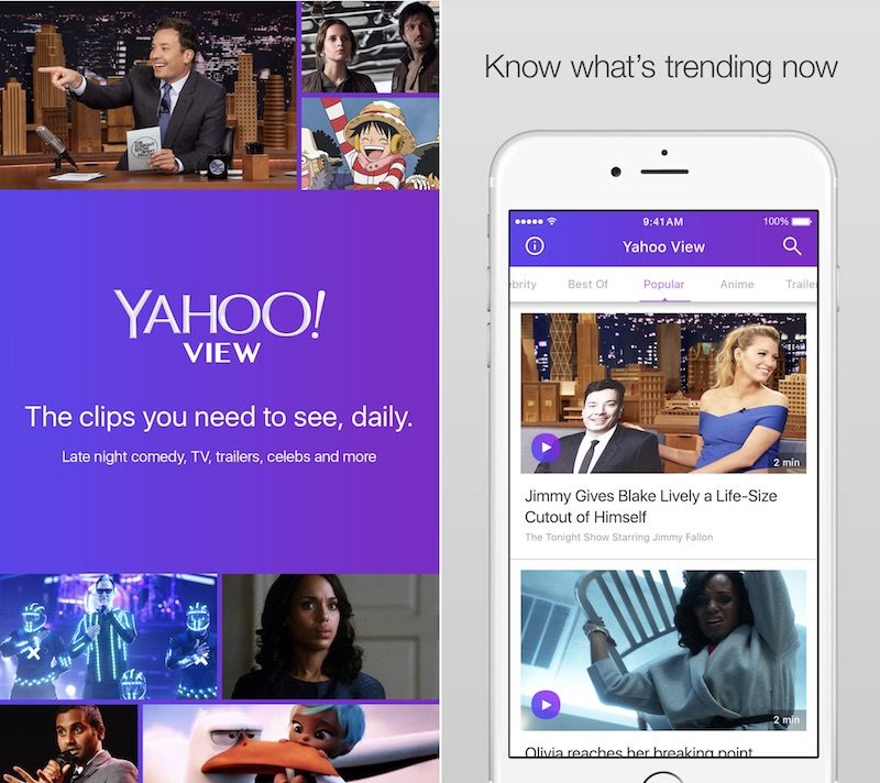 Yahoo View' App Debuts With Hulu Content Amid 'Massive Data Breach