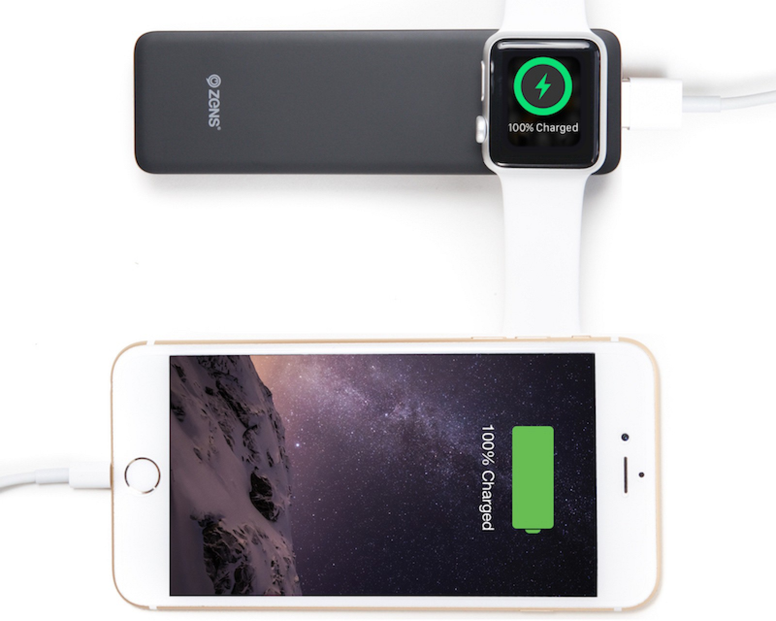 zens launches power bank for simultaneous apple watch and. Black Bedroom Furniture Sets. Home Design Ideas