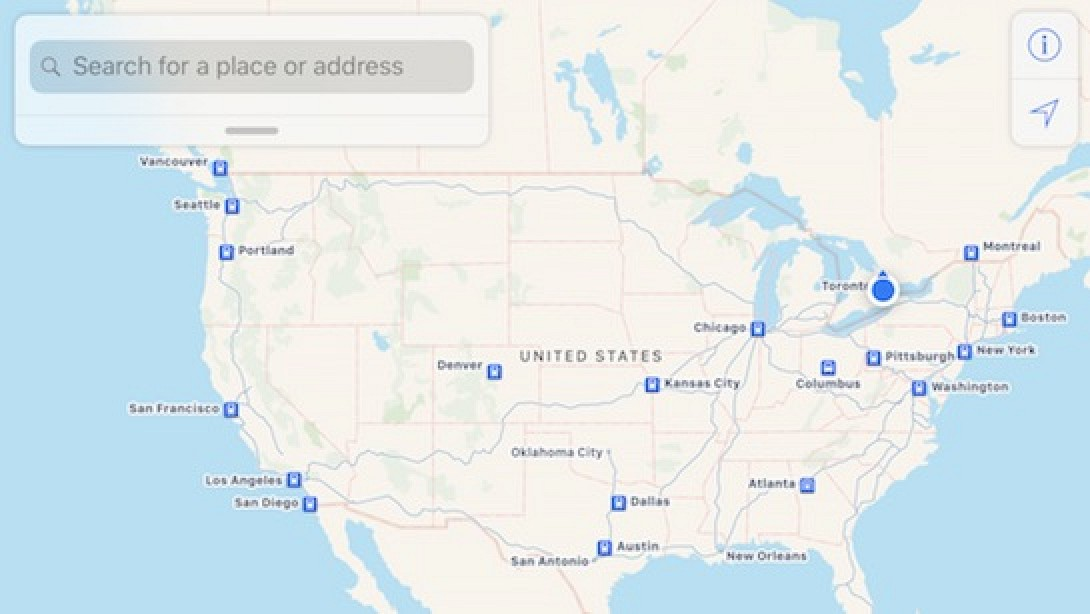 Apple Maps Now Supports Amtraks Full System In US And Canada - San antonio on us map