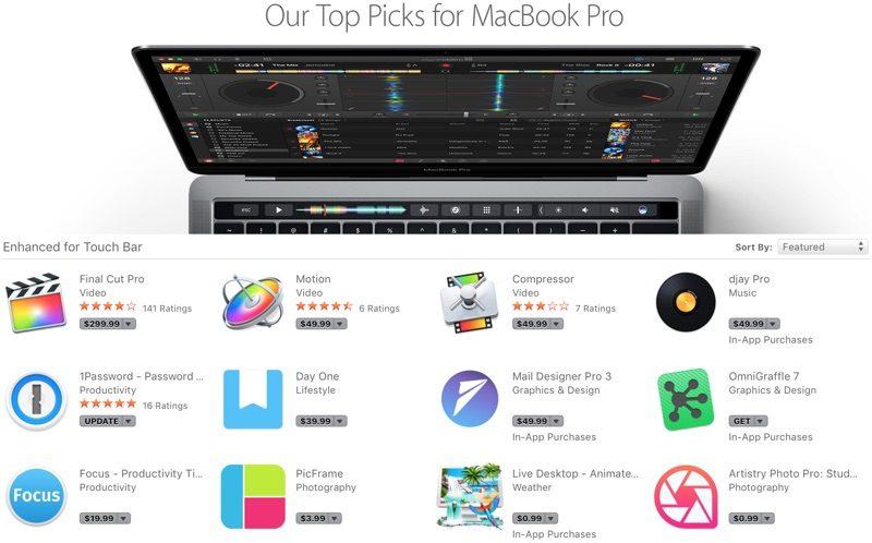 macbookprotouchbarapps