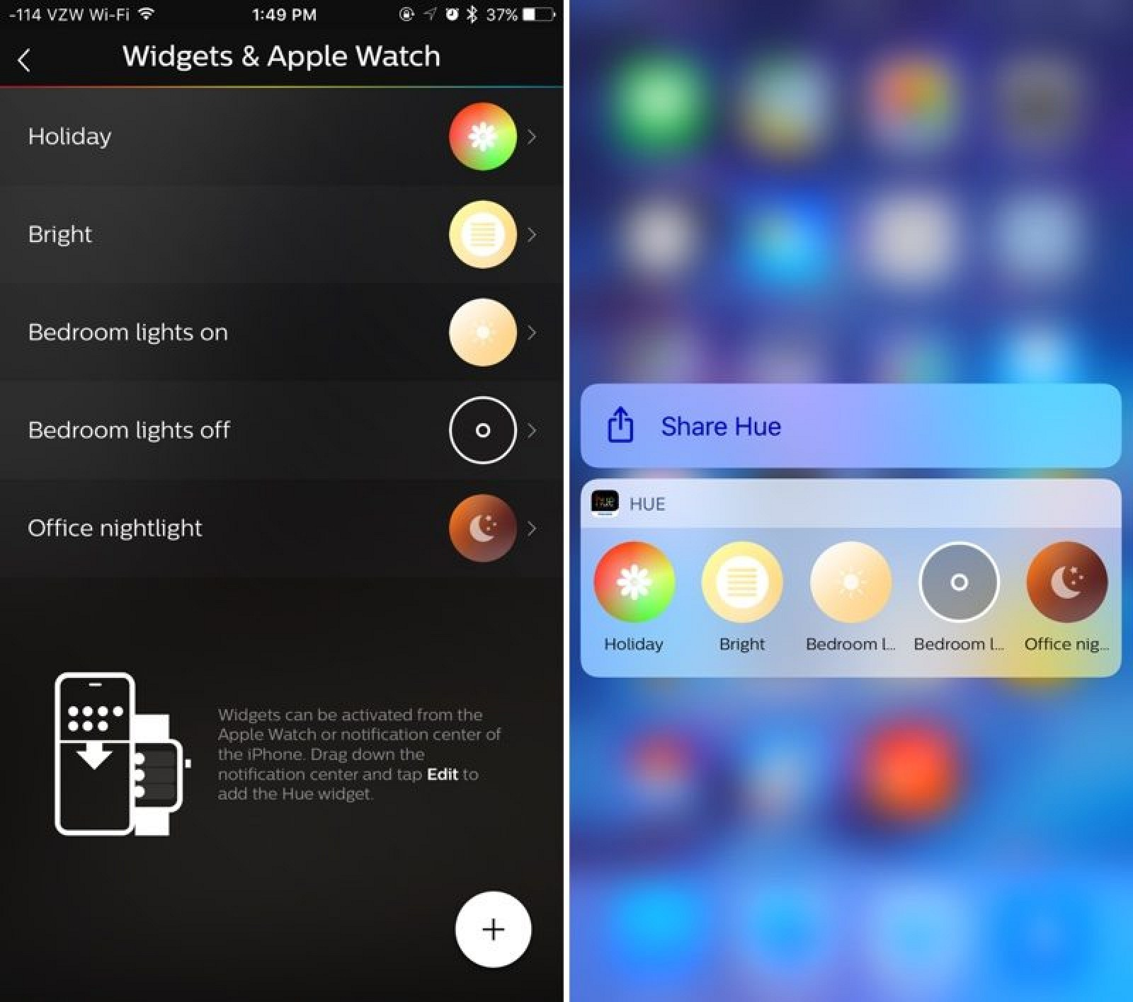 philips hue app expands to ipad gains new 3d touch features macrumors. Black Bedroom Furniture Sets. Home Design Ideas