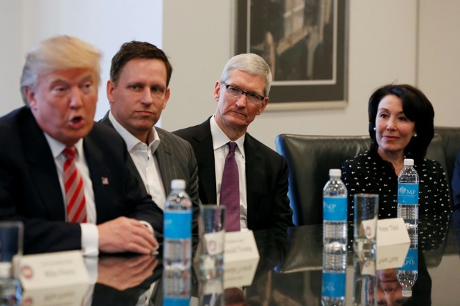 Tim Cook Trump Tower tech summit