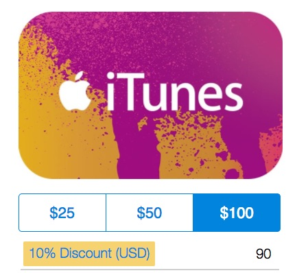 Purchase itunes card with paypal