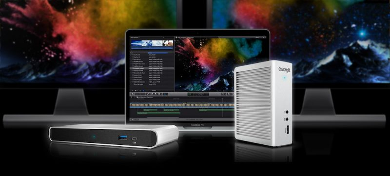 caldigit-thunderbolt-3-dock-ts3-ts3lite-extened-monitors-macbookpro2016-hero