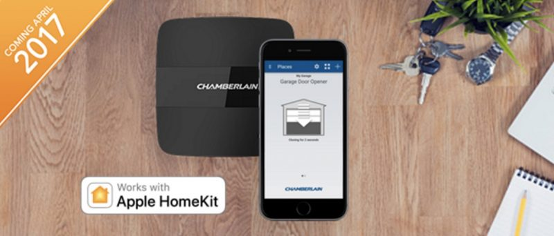 thanks to homekit users will be able to control their garage door and any myq connected lighting accessories through their iphone
