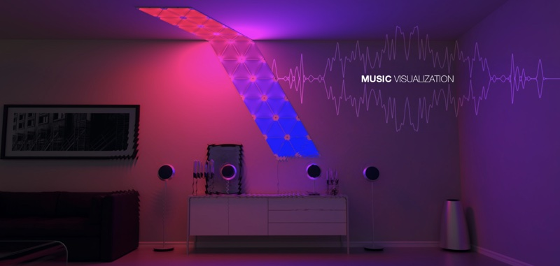 The Aurora Rhythm is a plug-in module that attaches to an existing Aurora display. Its built-in audio sensors pick up on music and transform beats and ... & CES 2017: HomeKit-Enabled Mood Lighting u0027Nanoleaf Aurorau0027 Gains ... azcodes.com