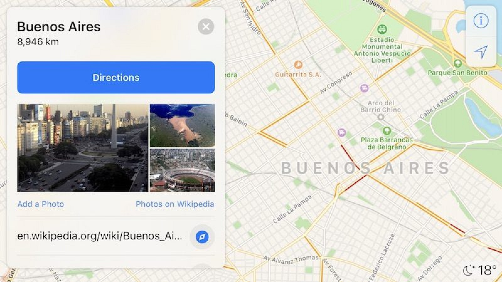. apple maps now shows traffic conditions in argentina  mac rumors