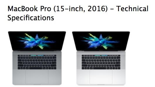 Apple Drops 'Late' From 'Late 2016' MacBook Pro Model Names - MacRumors